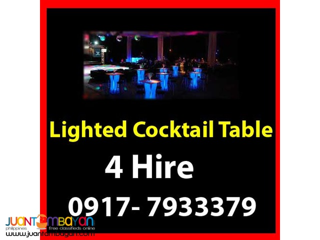 Lighted Cocktail Table Rental Hire Manila Philippines