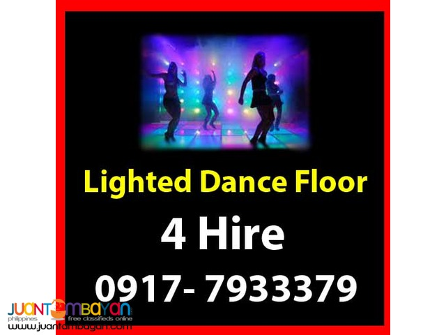 Lighted Dance Floor Rental Hire Manila Philippines