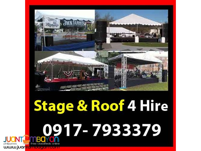 Stage & Roof Rental Hire Manila Philippines