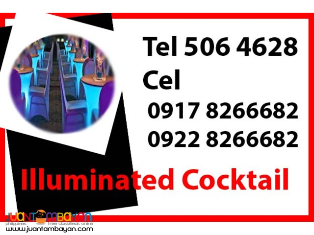 Illuminated Cocktail Rental Hire Manila Philippines