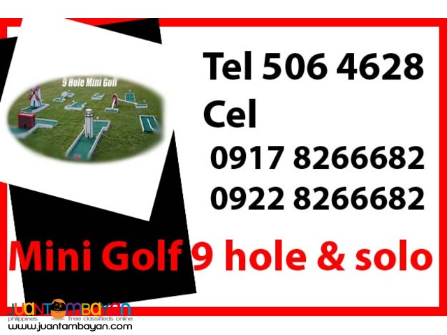 Mini Golf 9 hole & Solo Rental Hire Manila Philippines