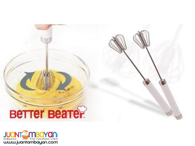 Better Beater Press and Spin whisk whip Kitchen Mixing Tool