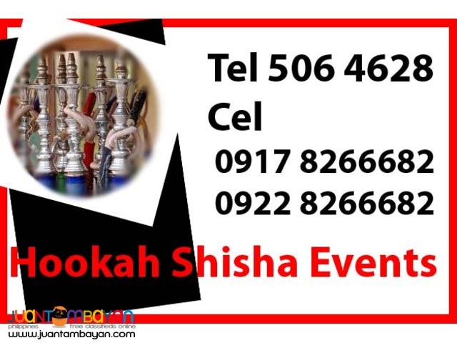 Hookah Shisha Events Rental Hire Manila Philippines