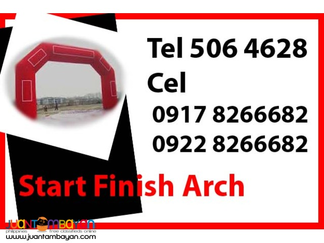 Start Finish Arch Rental Hire Manila Philippines