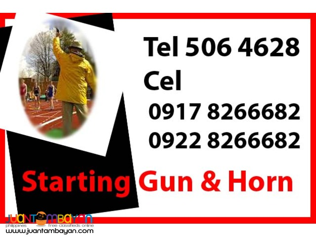 Starting Gun & Horn Rental Hire Manila Philippines