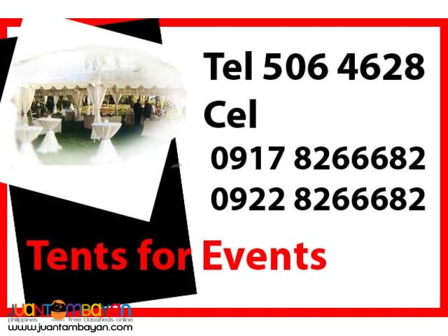 Tents for Events Rental Hire Manila Philippines