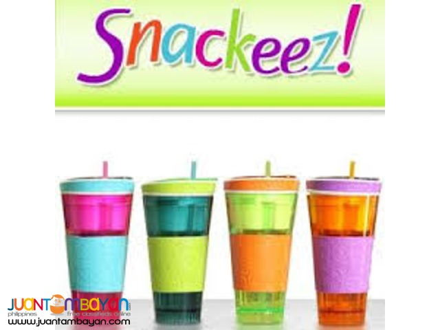Snackeez Snack and Drink Cup For Snacking On The Go In One Cup