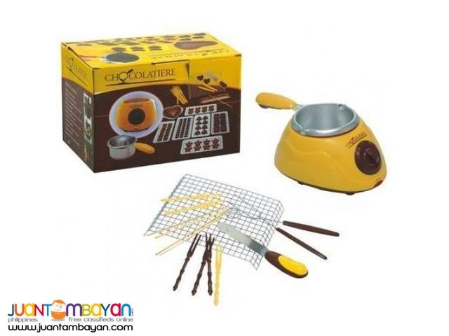 Electric Chocolatiere Fondue Chocolate Melting Pot Machine Set