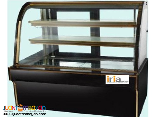 CAKE CHILLER DISPLAY SHOWCASE (floor type, curve glass, 4ft)