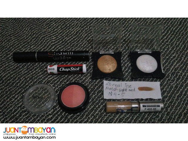 Preloved and BNew Makeups, Pamigay Sale