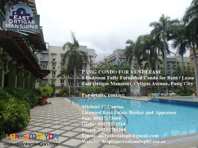 For Rent 1 BR Condo in Pasig nr Ortigas, Mandaluyong, San Juan
