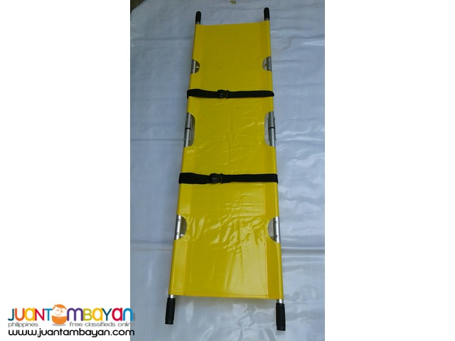 Aluminum 2 Fold Stretcher Yellow