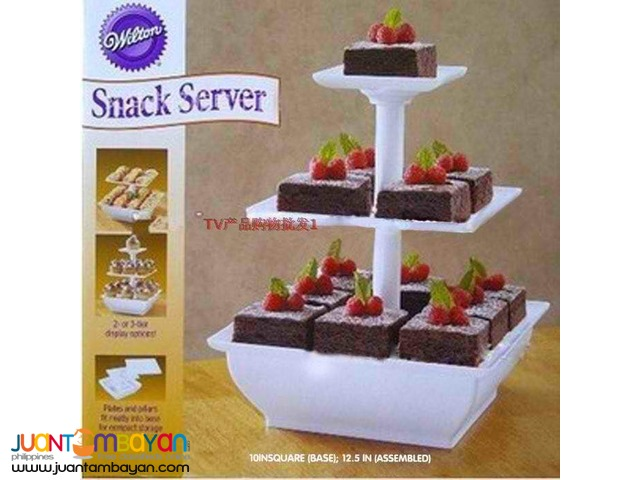 3 Tier Snack Server Stand for Cupcakes Cakes Desserts Pastries Fruits