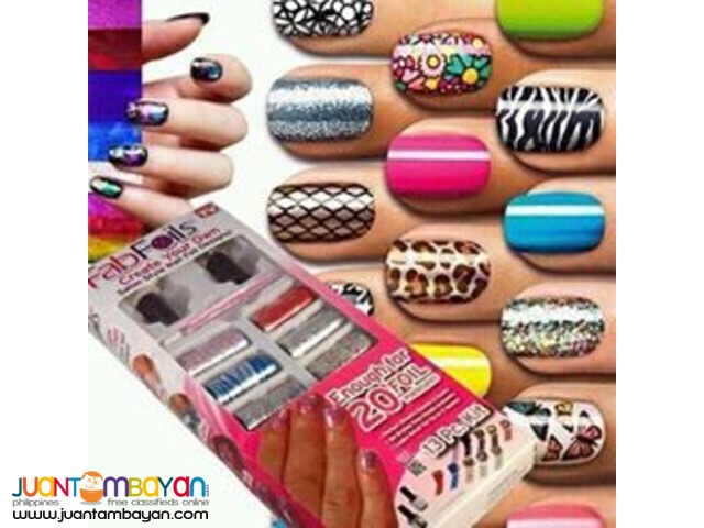 Fab Foils Nail Art Kit As Seen On Tv Marie Isabelle Gonzales
