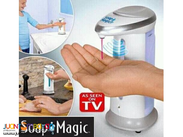 Soap Magic Hands Free Touch-Free Hand Sanitizer Liquid Soap Dispenser