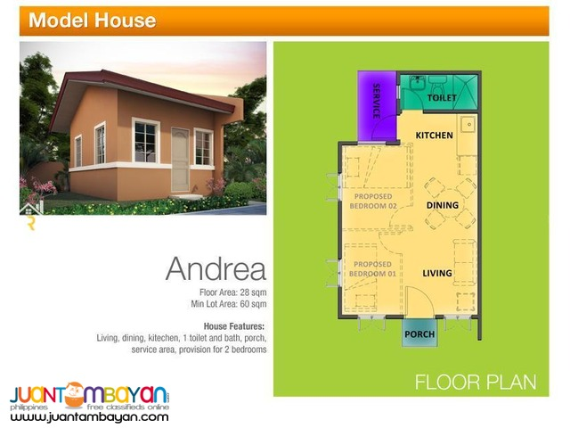 Bungalow Townhouse for sale as low as P7,042 mo amort
