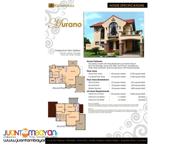 Murano Of Citta Italia By Crown Asia – Luxury Homes For Sale In Bacoor