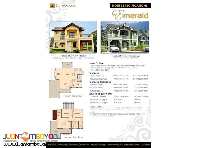 Emerald Of Citta Italia By Crown Asia – Luxury Homes In Bacoor