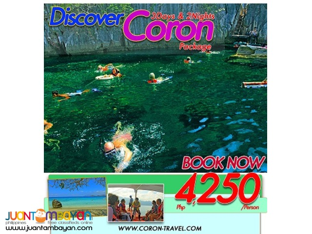 Plan your summer holiday3Days &2nights now trip to Coron