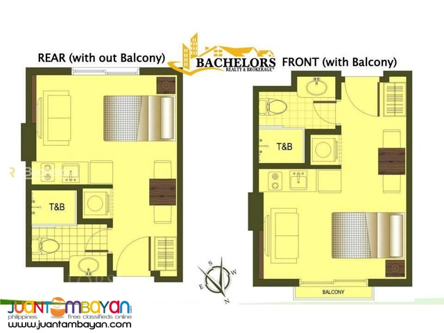 Condo Studio type for sale as low as P13,252 mo amort