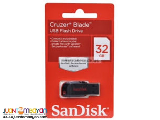 Sandisk CRUZER 32GB USB 2.0 FLASH DRIVE