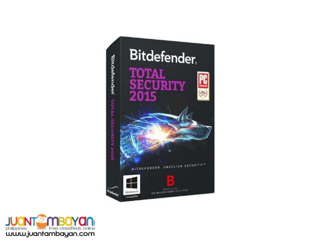 BITDEFENDER TOTAL SECURITY 2015 (3 PC)