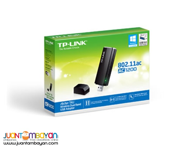 TP-LINK ARCHER T4U WIRELESS AC 1200 DUAL BAND USB ADAPTER
