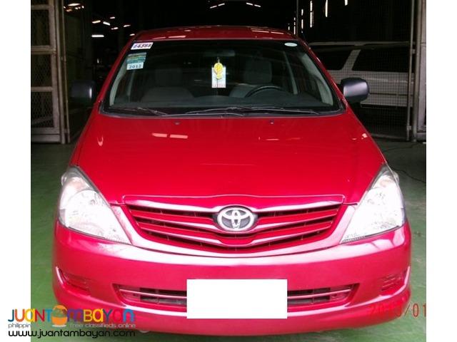 Rent a car Toyota Innova Red