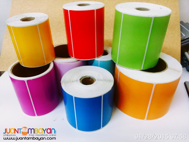 Colored Satin Labels and Barcode Stickers for All Barcode Printers