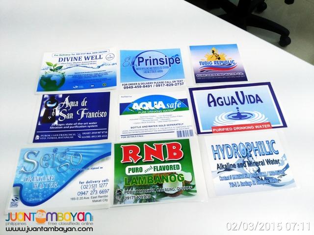 PET Bottle Sticker, 3 x 1.5 350mL Labels Water Station Sticker