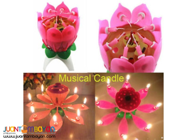 Rotating Musical candle and cake topper
