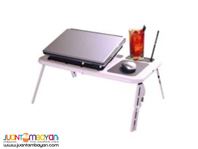 Portable Foldable Laptop E Table Tray Cooling Fan Notebook Tablet