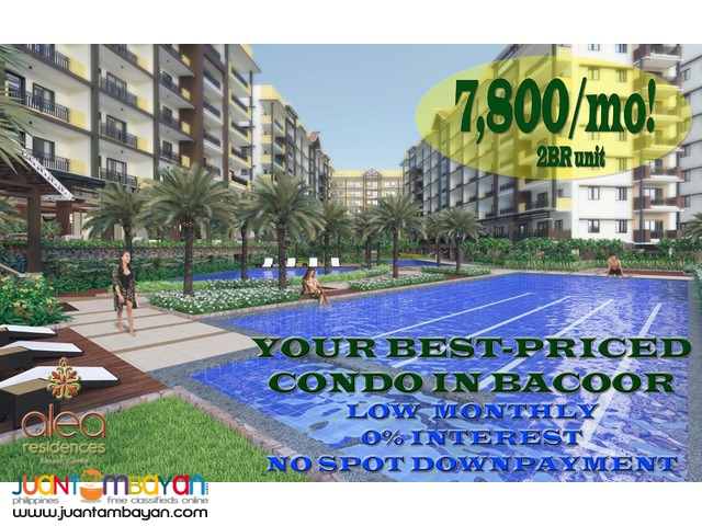 Alea Residences Bacoor Condo near SM MOA & Solaire Php7,800/month!