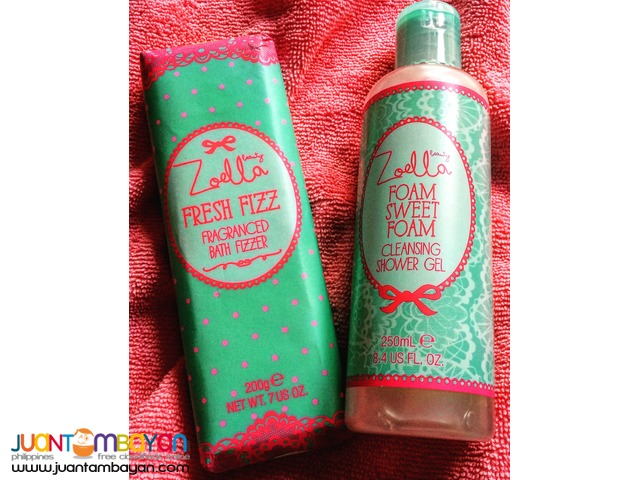 Zoella Bath Fizzer and Shower Gel set