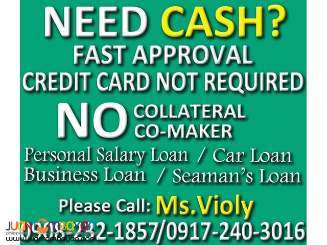 Avail Now! Personal Salary Loan, Business Loan, Car Loan
