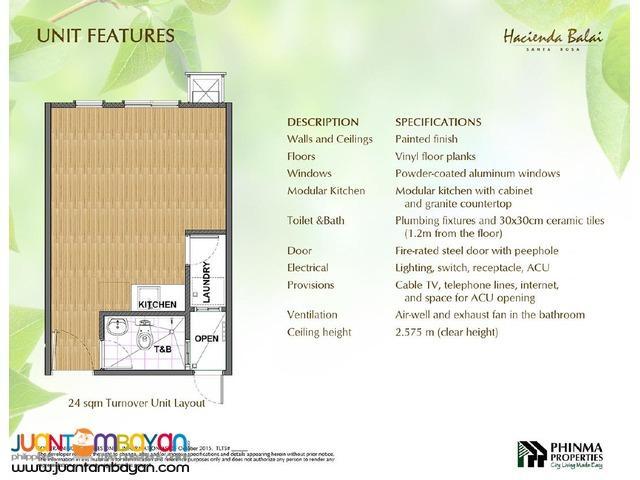 HACIENDA BALAI Santa Rosa Affordable condo near to NUVALI and PASEO