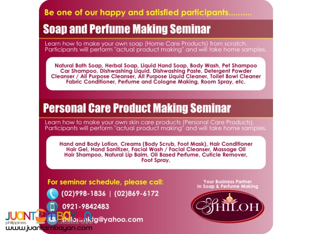 SOAP AND PERFUME MAKING