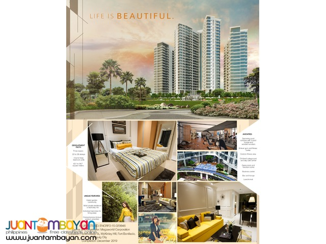 The Florence Mckinley Hill Taguig condo latest!