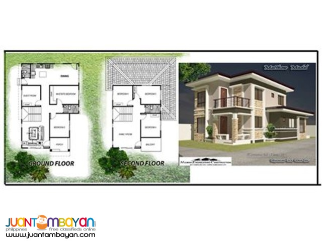 model house to be constructed on your own lot
