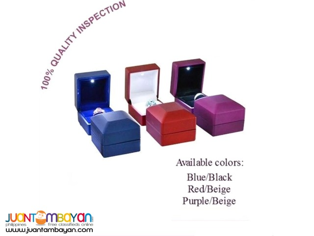 Luxury single ring box with LED Light