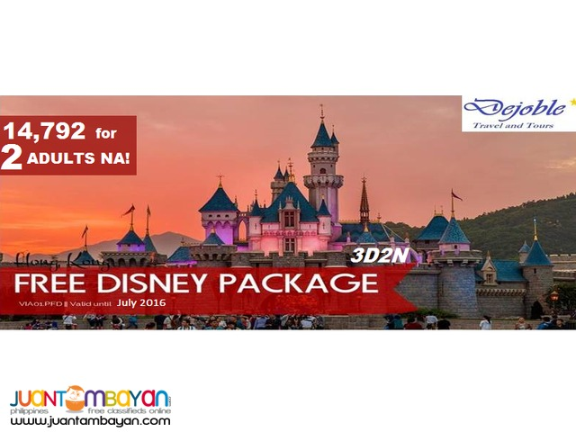 Hong Kong Free Disney Tour Package 14,792 for 2 ADULTS NA!