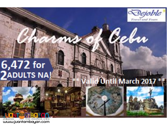 Cebu Free and Easy Tour Package  6,472 for 2 ADULTS NA!