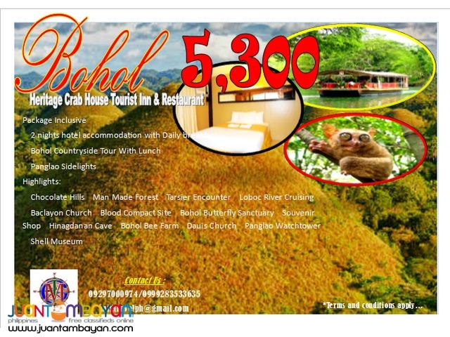 Bohol tour package promo