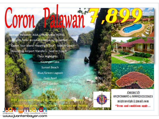 coron tour package asia grandview