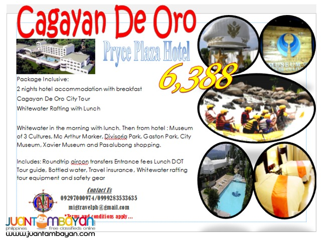 Cagayan DeOro whitewater rafting tour package
