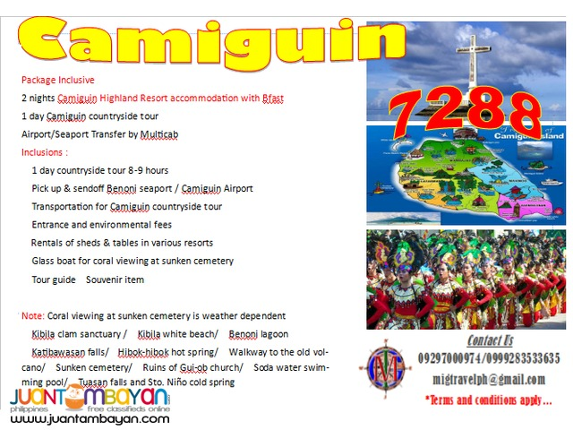 Camiguin tour package all in promo