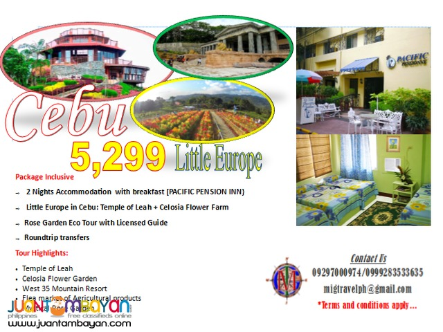 Cebu city tour package with little europe