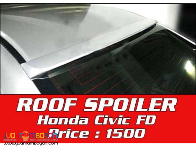 Roof Spoiler for Hond Civic FD