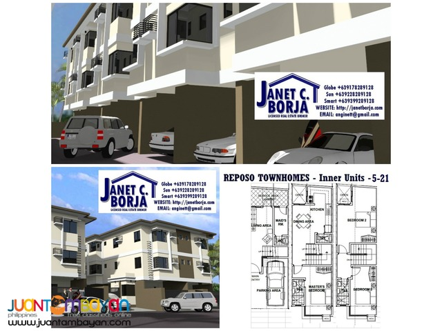 Santa Mesa Manila Pre Selling 3 Storey Townhouse Gated