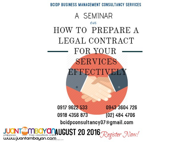 HOW TO MAKE A LEGAL CONTRACT FOR YOUR SERVICES EFFECTIVELY